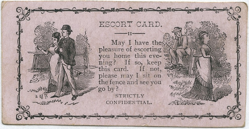 Dating card from the late 19th century. Source  Alan Mays.